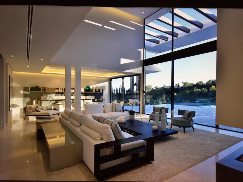 Salón, vista exterior y sala de estar